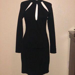 NWOT Black High Neck, Cocktail Dress